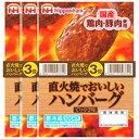 【冷蔵】日本ハム 直火焼きハンバーグ 3個入×10個 国産原料使用 ZHT