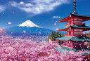 【取寄商品】★34%off★1000ピースジグソーパズル『富士と桜舞う浅間神社』