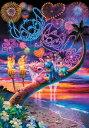 ■ステンドアートぎゅっとサイズ500ピースジグソーパズル『ラブリービーチ♥』《廃番商品》