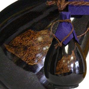 六歌仙 ごうじょっぱり壺 木の葉天目 720mlの商品画像