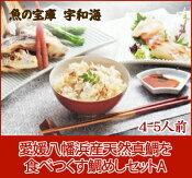 【送料無料】【鮮度抜群CAS冷凍品】愛媛八幡浜産天然真鯛を食べつくす「鯛めしセットA(4-5人前)」