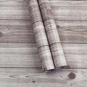 簡単 リフォーム 壁紙 木目 ウォールステッカー クロス はがせる 防水 リメイク シール 45cm×10m (木目調 グレーウッド) 【送料無料】tno-c51