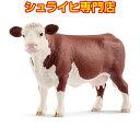 楽天クピトイズシュライヒ ヘレフォード牛 メス 13867 動物フィギュア ファームワールド FARM WORLD 農場 Farm Animals schleich 2018 新商品
