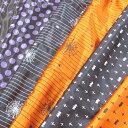 ハロウィン サテン 衣装 コスチューム コスプレ オレンジ パープル 紫 ドット 水玉 星 星柄 スター コウモリ 生地 パーティ衣装 仮装 ペット衣装 ペット仮装