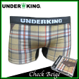 UNDER KING /CHECK BEIGE / smtb-TDsaitama_