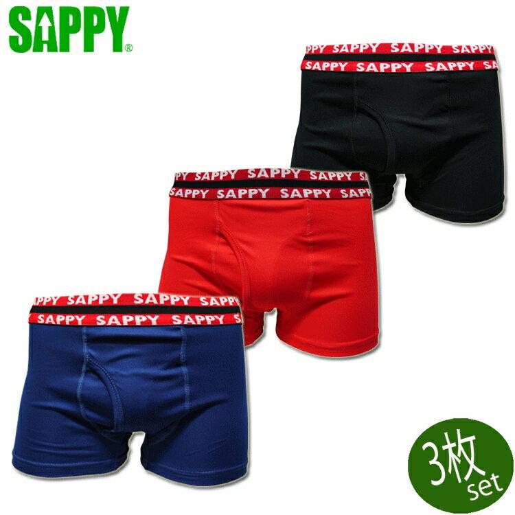SAPPY サピー ボクサーパンツ カラー3Pボクサー 3枚セット D-661
