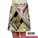 ショッピングウエスト 【送料無料】 MOSCHINO CHEAP AND CHIC モスキーノチープアンドシック スカート ミニスカート プリント ホワイト SIZE:38(7号)/40(7〜9号) (mos_261222)