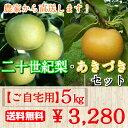 二十世紀梨・あきづきセット ご自宅用 訳あり品 5kg(10...