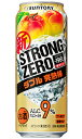【2ケースで送料無料】サントリー −196℃ ストロングゼロ ダブル完熟梅 500ml×24缶 1ケース