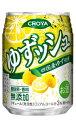 チョーヤ ゆずッシュ 250ml×24缶 1ケース【ミニ缶】