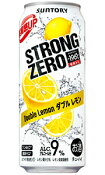 サントリー −196℃ ストロングゼロ ダブルレモン 500ml缶 バラ 1本