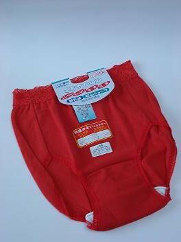 【送料無料】軽失禁ショーツ ☆日本製 失禁パンツ 女性用 尿漏れパンツ 綿100% 安心パンツ 赤