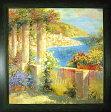 【送料無料】「イタリアの隠れ家1」ロンゴ・特殊ゲル加工風景画アート[絵画通販]