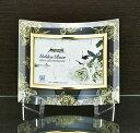 「ゴールデンローズ ガラスフォトフレーム (1ウィンドー・クリア)」   (フォトフレーム 写真たて 写真立て フォトスタンド)(結婚祝い ウエディング ウェディング)[フォトフレーム通販]