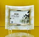 「ゴールデンローズ ガラスフォトフレーム (1ウィンドー・ホワイト)」   (フォトフレーム 写真たて 写真立て フォトスタンド)(結婚祝い ウエディング ウェディング)[フォトフレーム通販]