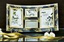 「ゴールデンローズ ガラスフォトフレーム (4ウィンドー)」   (フォトフレーム 写真たて 写真立て フォトスタンド)(結婚祝い ウエディング ウェディング)[フォトフレーム通販]