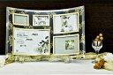 「ゴールデンローズ ガラスフォトフレーム (5ウィンドー)」   (フォトフレーム 写真たて 写真立て フォトスタンド)(結婚祝い ウエディング ウェディング)[フォトフレーム通販]
