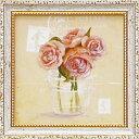 「ローズ」コレン サラ (花 ・風景画アートポスター)[絵画通販]ローズ バラ 薔薇 ばら 絵 絵画 ピンクのバラ【壁掛けフック付き】【絵のある暮らし】