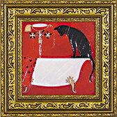 「浴槽」ドミンゲス【通信販売】(犬・猫・いぬ・ねこ・イヌ・ネコ・特殊ゲル加工アート[絵画通販])