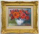 「バラ」(赤い薔薇)谷口春彦(F3サイズ油彩画[油絵](直筆油彩画)花風水・開運風水画・静物画[絵画通販])【壁掛けフック付き】【絵のある暮らし】