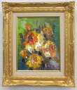 「バラ」(黄色い薔薇)谷口春彦(F3サイズ油彩画[油絵](直筆油彩画)花風水・開運風水画・静物画[絵画通販])【壁掛けフック付き】【絵のある暮らし】