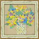 【送料無料】「ボタニカルイエロー」MJベスウィック(絵のある暮らし)黄色い花 黄色 花 絵 絵画 アート 風水