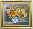 「バラ」(黄色い薔薇)谷口春彦(F10サイズ油彩画[油絵](直筆油彩画)・花風水・静物画・開運風水画・ゴールド額[絵画通販])【壁掛けフック付き】【絵のある暮らし】