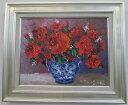 「バラ」(赤い薔薇)谷口春彦(F6サイズ油彩画[油絵](直筆油彩画)花風水・開運風水画・静物画[絵画通販])【壁掛けフック付き】【絵のある暮らし】