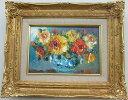 「バラ」(黄色い薔薇)谷口春彦 サムホールサイズ油彩画[油絵](直筆油彩画)花風水・開運風水画・静物画[絵画通販]【壁掛けフック付き】【絵のある暮らし】