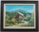 「信濃路の家」谷口春彦(F6サイズ油彩画[油絵]・日本風景画・風景画[絵画通販]【壁掛けフック付き】【絵のある暮らし】