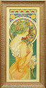【送料無料】 「桜草」アルフォンス・ミュシャ(世界の名画・アルフォンス・ミュシャ・特殊ゲル加工アート