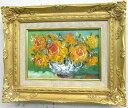 「バラ」(黄色い薔薇)谷口春彦(サムホールサイズ油彩画[油絵](直筆油彩画)花風水・開運風水画・静物画[絵画通販])【壁掛けフック付き】【絵のある暮らし】