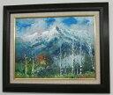 「穂高連峰」谷口春彦 F6サイズ油彩画[油絵]・日本風景画[絵画通販]【壁掛けフック付き】【絵のある暮らし】