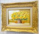 「黄色い薔薇」SOO(サムホールサイズ油彩画[油絵](直筆油彩画)開運風水画・静物画・花風水[絵画通販])【壁掛けフック付き】【絵のある暮らし】