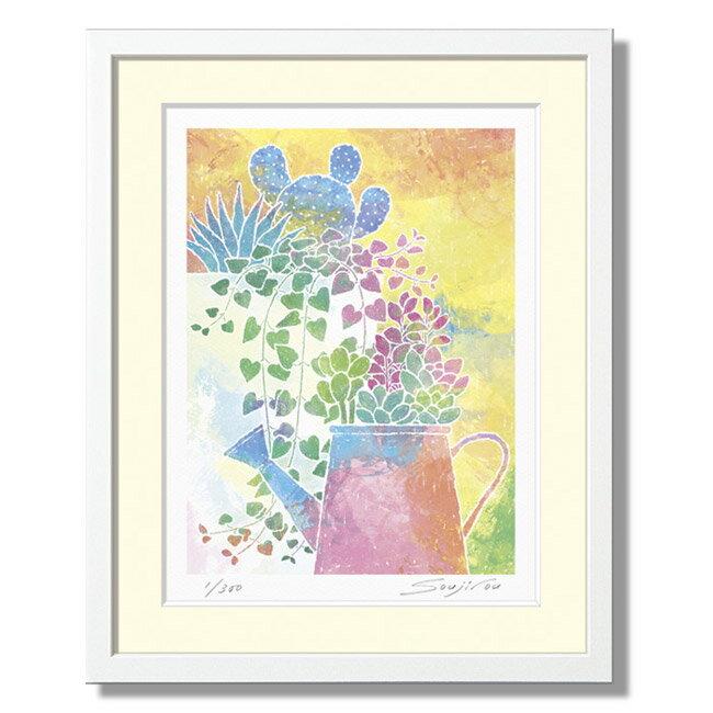 楽天ランキング1位獲得作品「如雨露と多肉植物寄せ...の商品画像