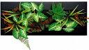 【ツーウェイグリーンアート】ブラックフレーム・グリーンアレンジC・Lサイズ(リーフインテリアフレーム)【人工観葉植物フレーム】[絵画通販]【絵のある暮らし】