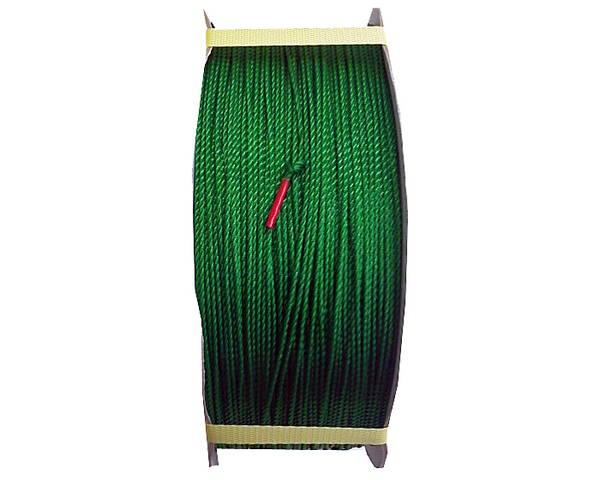 PEロープ 2ミリ 緑 700M ドラム巻