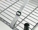 長さ調節が簡単な家具転倒防止用品家具固定金具ベルト式ネジとめタイプ 2本入【マイスト】