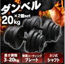 セメントダンベル20kg×2個セット ブラック SDB-I002BK