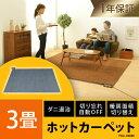 【200円引クーポン配布中】【あす楽】ホットカーペット 3畳...