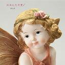 天使人形 天使置物妖精人形 妖精置物フェアリー エンジェルほほえみ天使(ピンク) 9911
