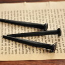 レトロ 鉄 釘 「鍛造アイアンネイル」 64mm 3本入/アンティーク おしゃれ ブラック ピン フック 画鋲【メール便発送可】