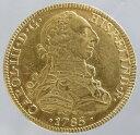 メキシコ スペイン王カルロス3世 8エスクード金貨 1785年 美品+
