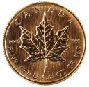 【送料無料】カナダ メイプルリーフ1/4オンス 10ドル金貨 1989年