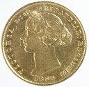 【送料無料】オーストラリア ソブリン金貨ヴィクトリア女王 1866年(sy)美品+