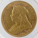 オーストラリア ソブリン金貨 ヴィクトリア女王 オールドヘッド 1901年 極美品