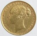 イギリス ソブリン金貨 ヴィクトリア女王 ヤングヘッド 1884年美品