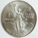 メキシコ リべルタード銀貨 1989年 未使用