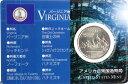 アメリカ【バージニア州】ジェームスタウン400年祭 25セント白銅貨 2000年 未使用