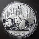 【送料無料】中国パンダ10元銀貨1オンス2013年 未使用